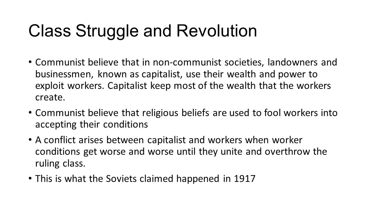 Class Struggle and Revolution