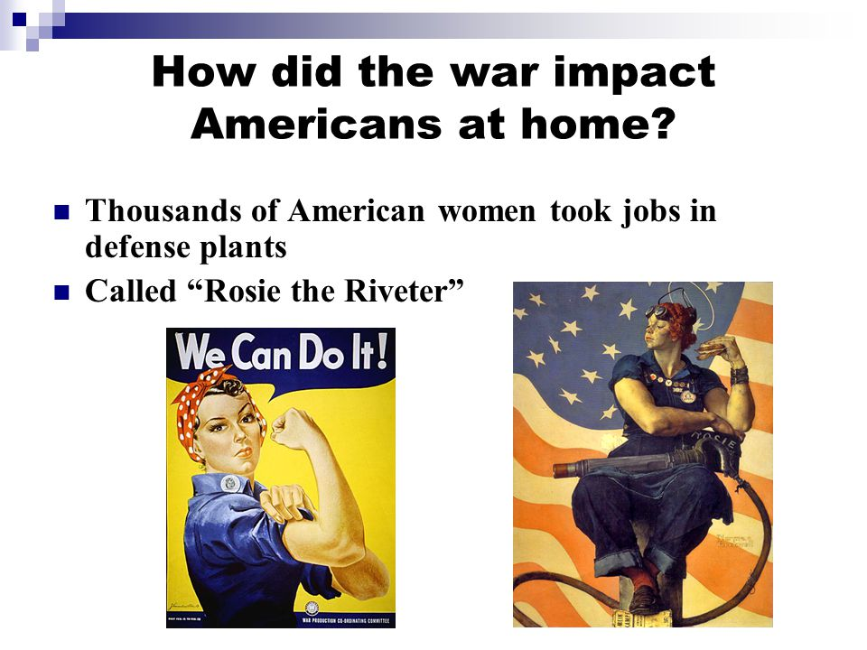 How did the war impact Americans at home