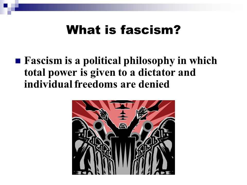 What is fascism.