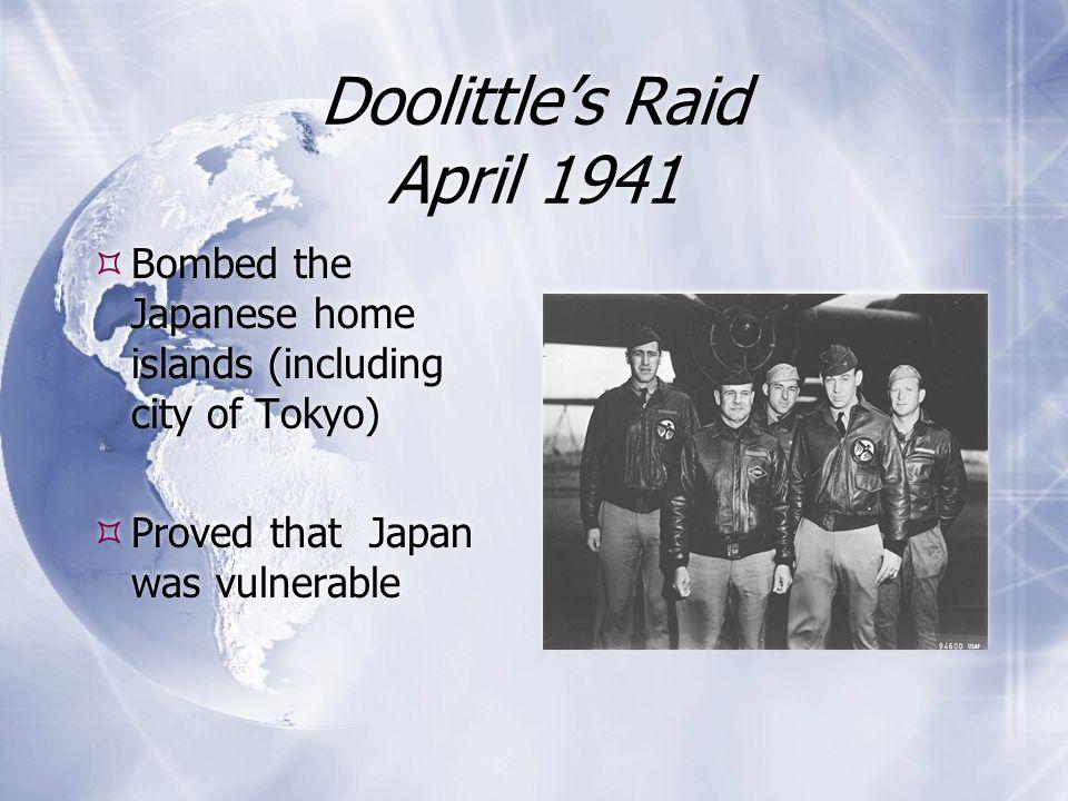 Doolittle's Raid April 1941