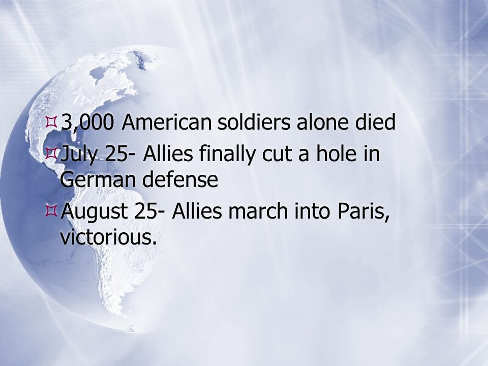 3,000 American soldiers alone died