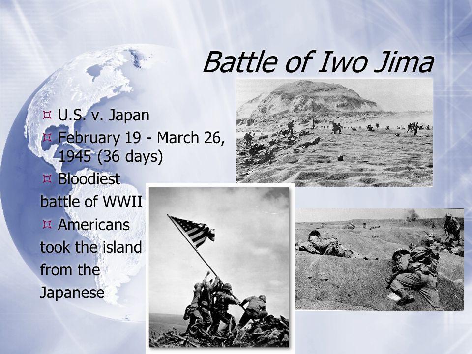 Battle of Iwo Jima U.S. v. Japan