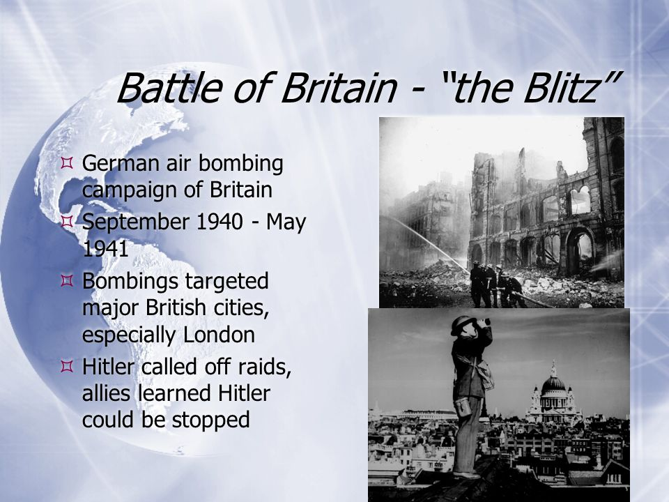 Battle of Britain - the Blitz