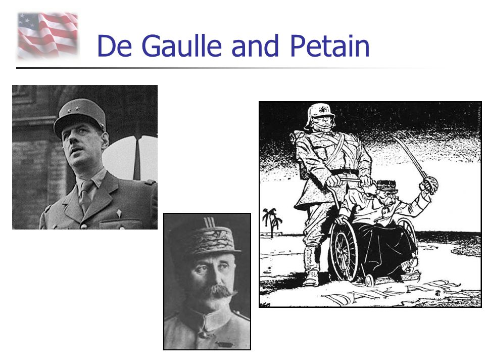 De Gaulle and Petain