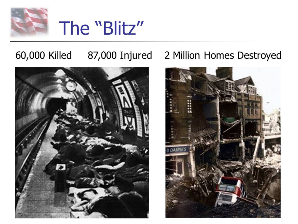 The Blitz 60,000 Killed 87,000 Injured 2 Million Homes Destroyed