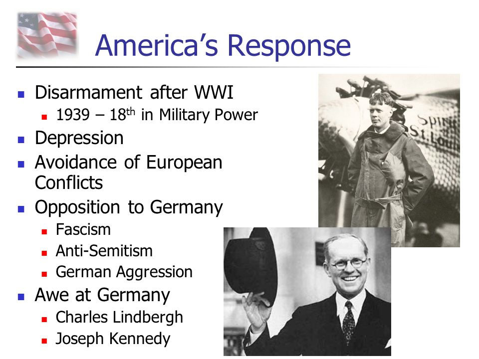 America's Response Disarmament after WWI Depression