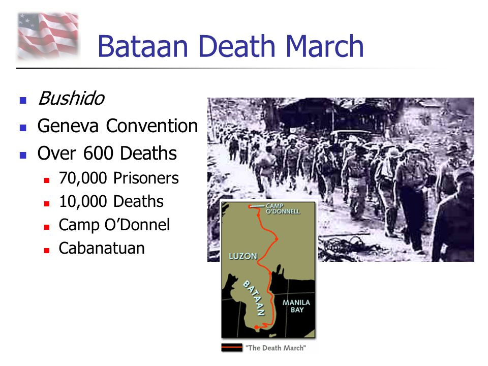 Bataan Death March Bushido Geneva Convention Over 600 Deaths