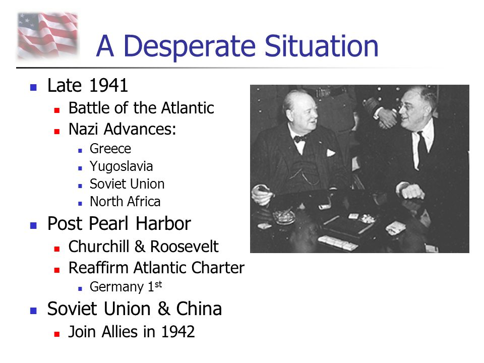 A Desperate Situation Late 1941 Post Pearl Harbor Soviet Union & China