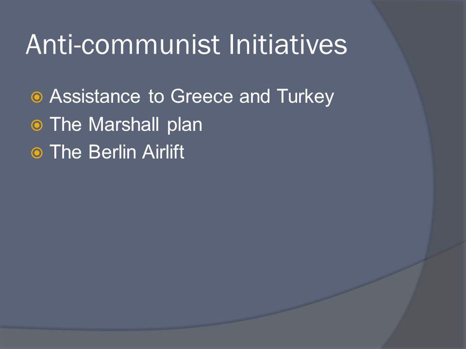 Anti-communist Initiatives