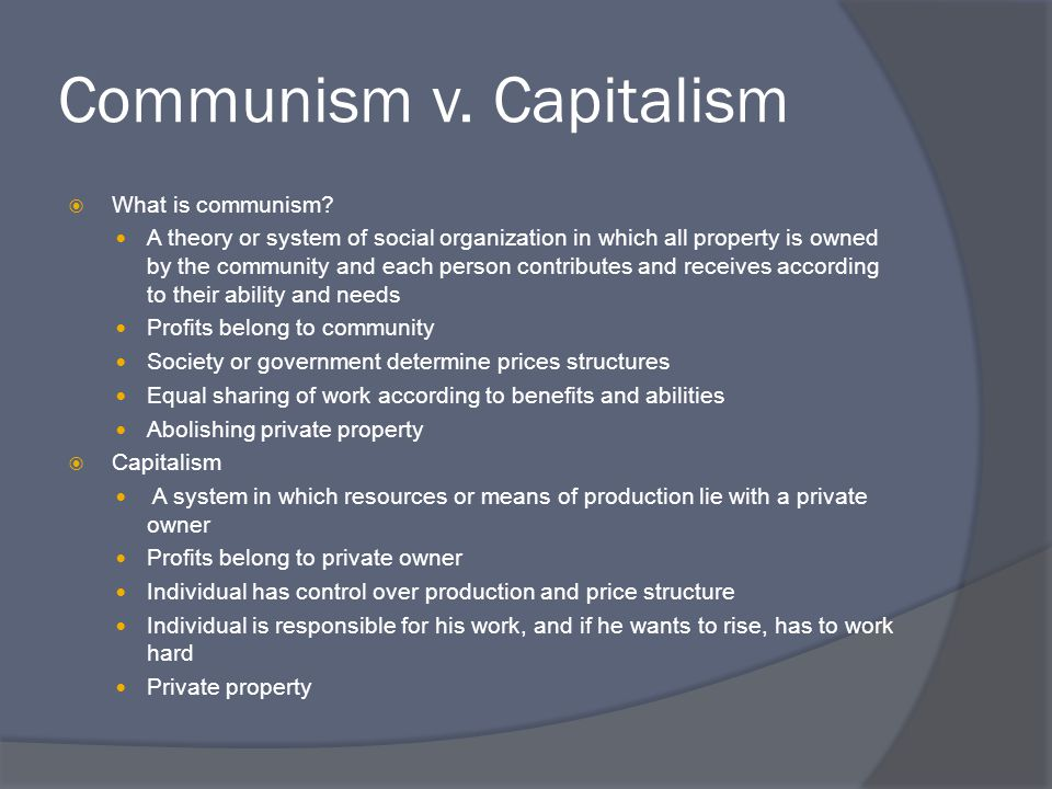 Communism v. Capitalism
