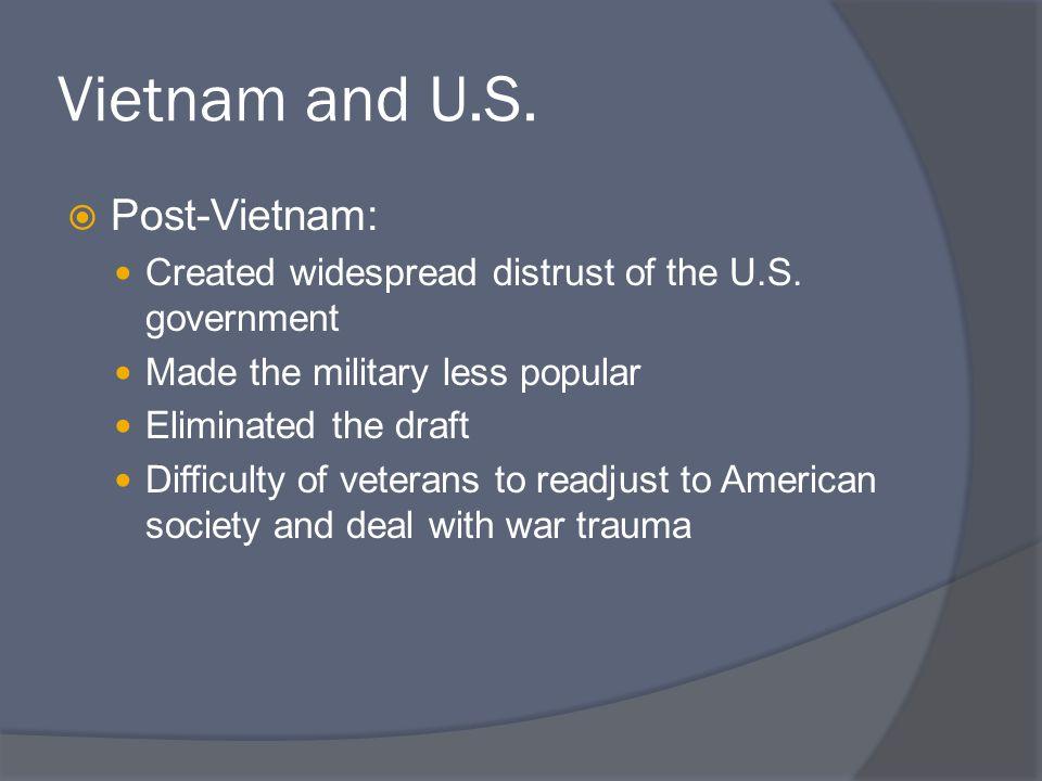 Vietnam and U.S. Post-Vietnam: