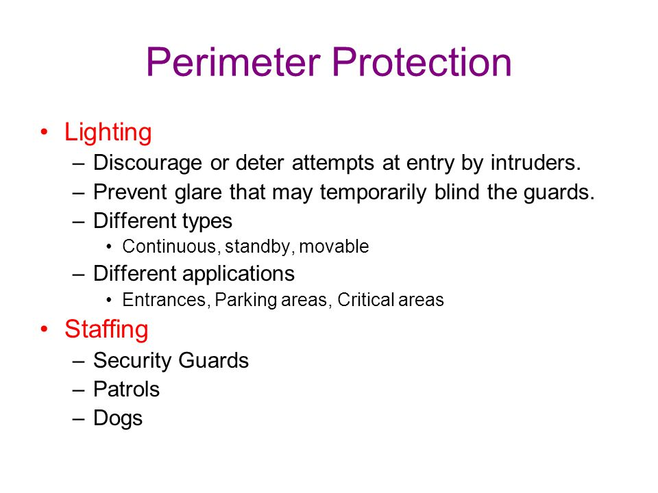 Perimeter Protection Lighting Staffing