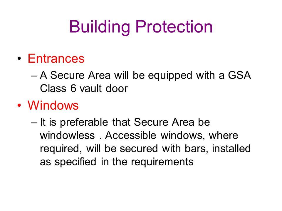 Building Protection Entrances Windows
