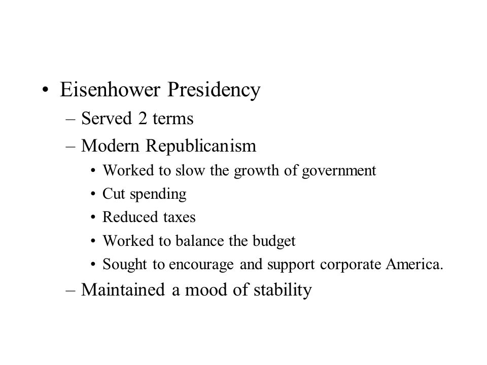 Eisenhower Presidency