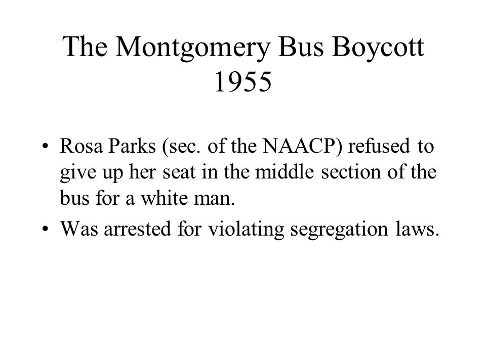 The Montgomery Bus Boycott 1955