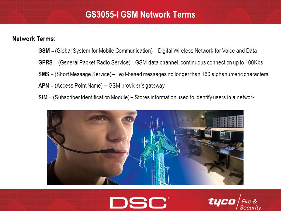 GS3055-I GSM Network Terms Network Terms: