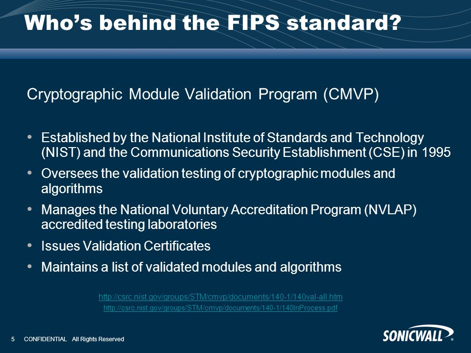 Who's behind the FIPS standard