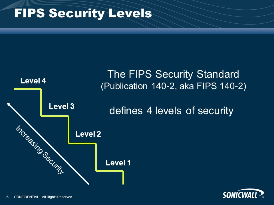 FIPS Security Levels The FIPS Security Standard