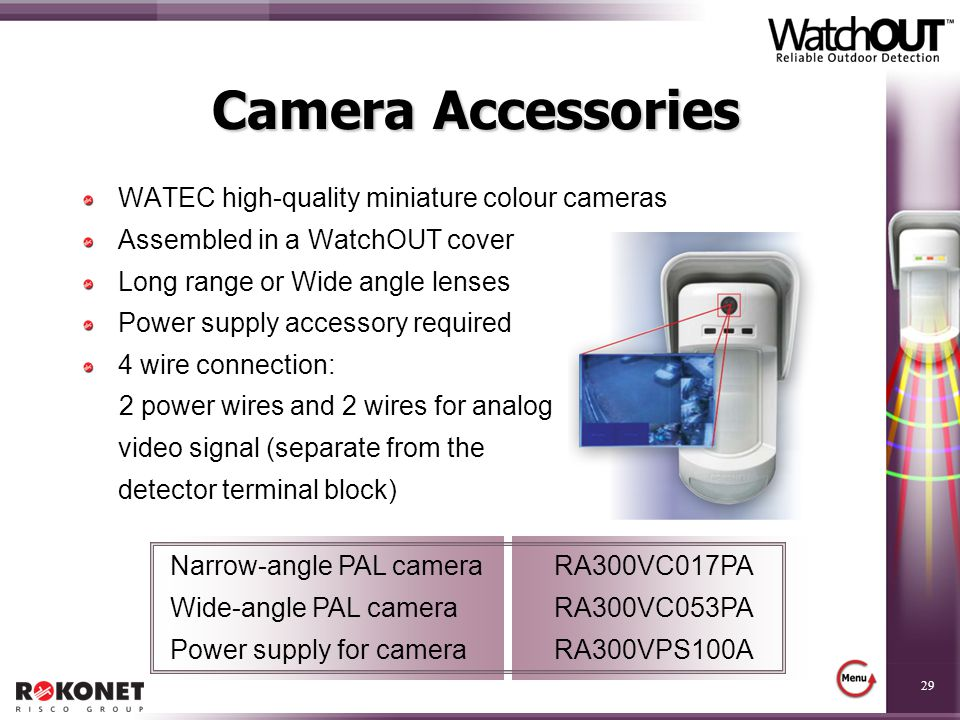 Camera Accessories WATEC high-quality miniature colour cameras
