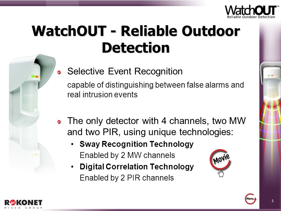 WatchOUT - Reliable Outdoor Detection
