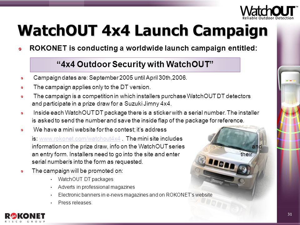 WatchOUT 4x4 Launch Campaign