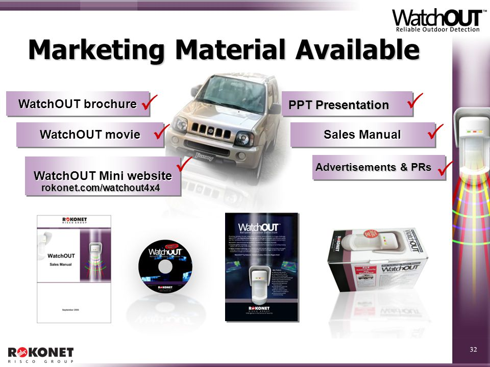 Marketing Material Available