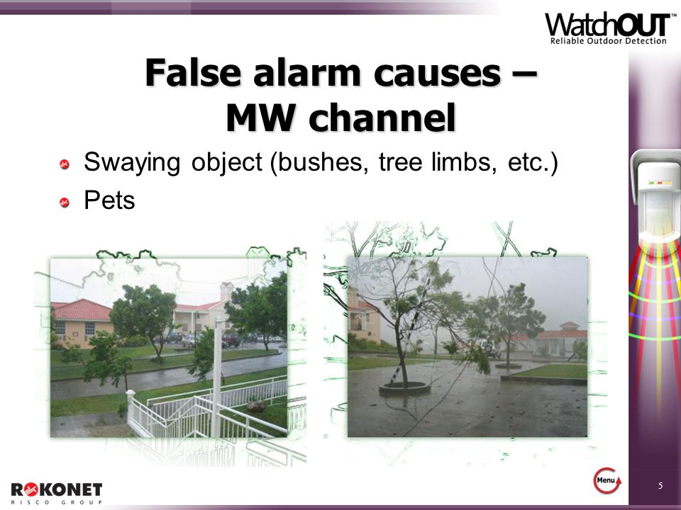 False alarm causes – MW channel