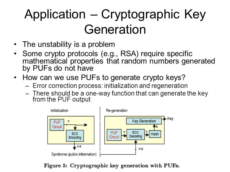 Application – Cryptographic Key Generation