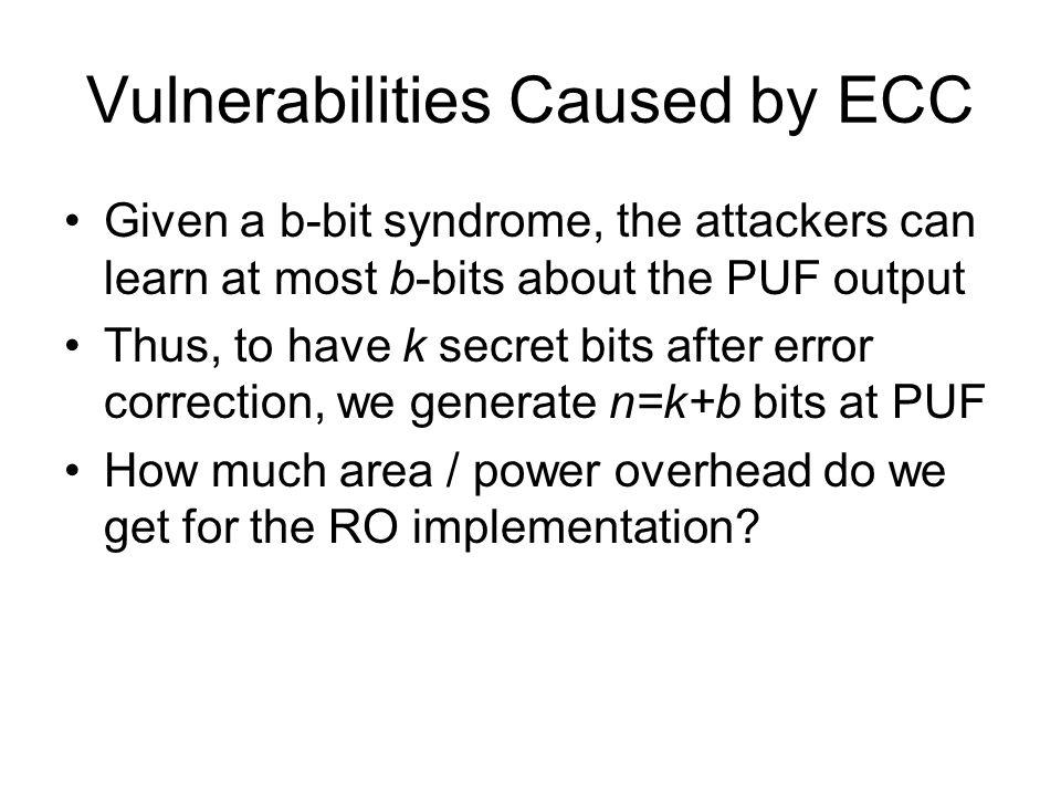 Vulnerabilities Caused by ECC