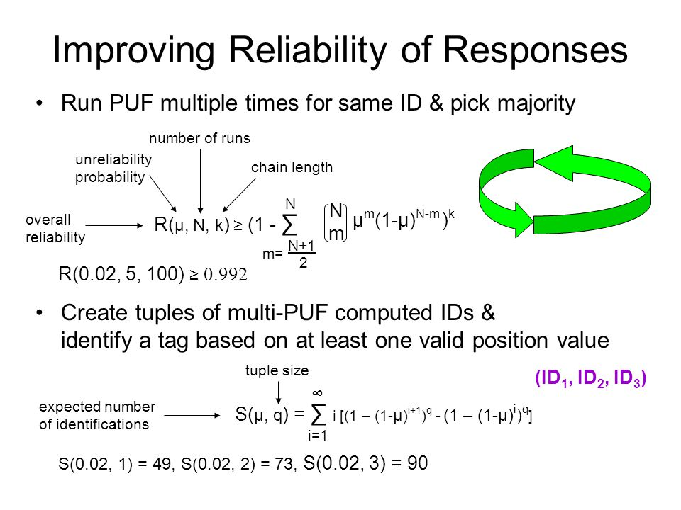 Improving Reliability of Responses
