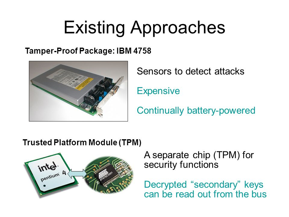 Existing Approaches Sensors to detect attacks Expensive