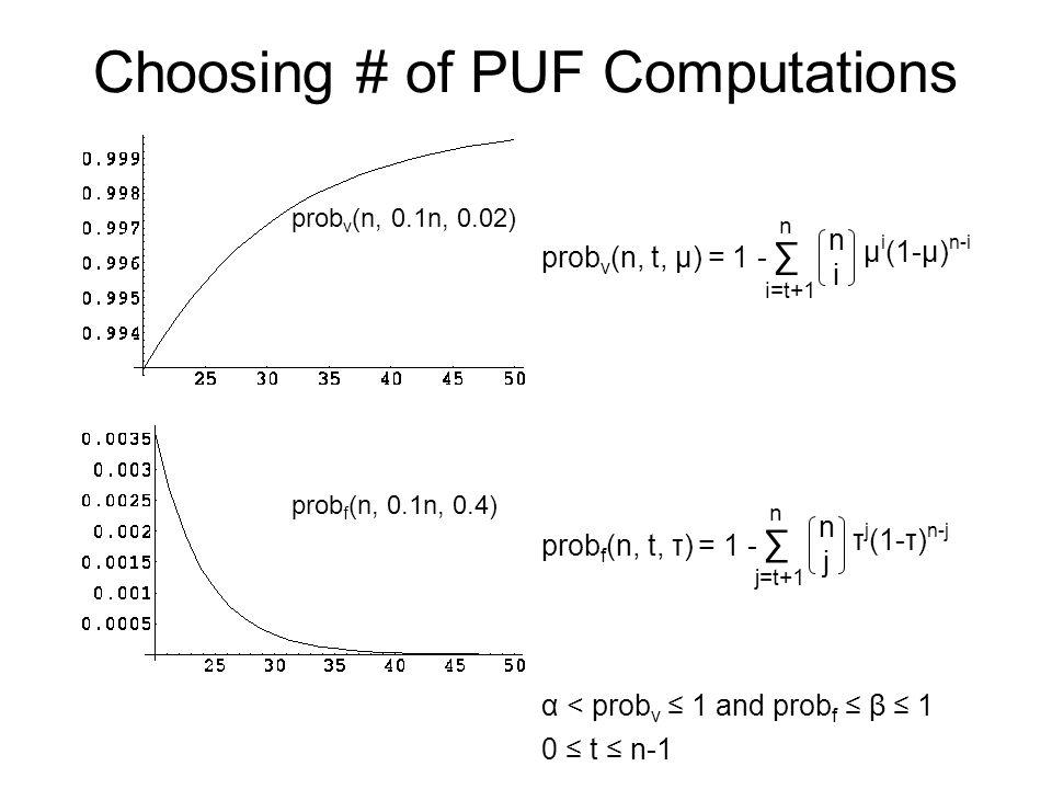 Choosing # of PUF Computations