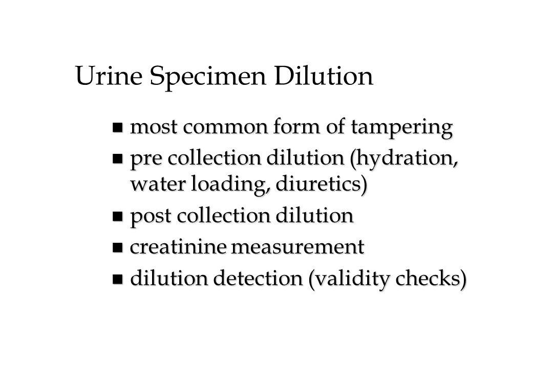 Urine Specimen Dilution