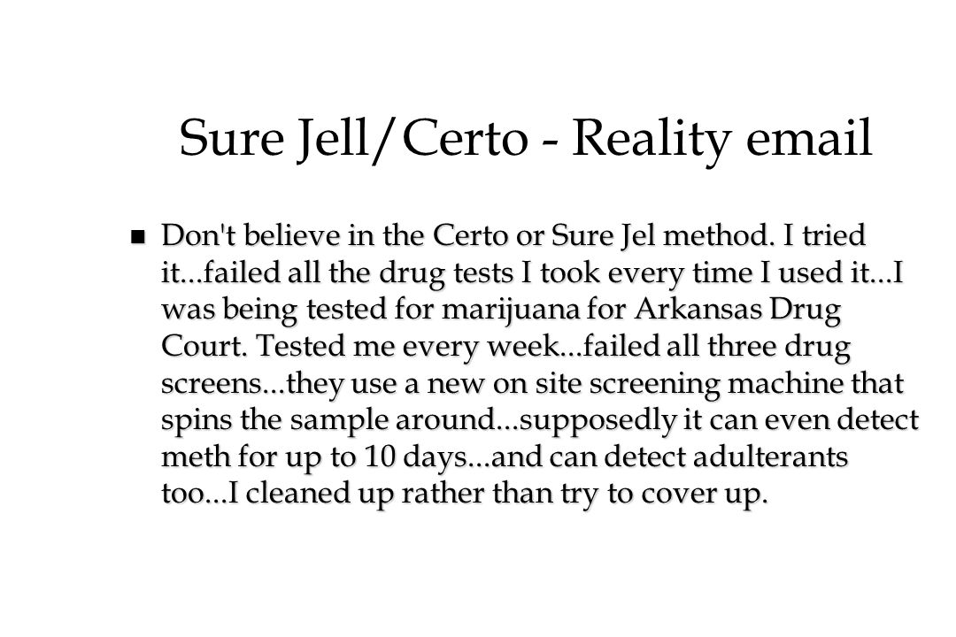 Sure Jell/Certo - Reality email