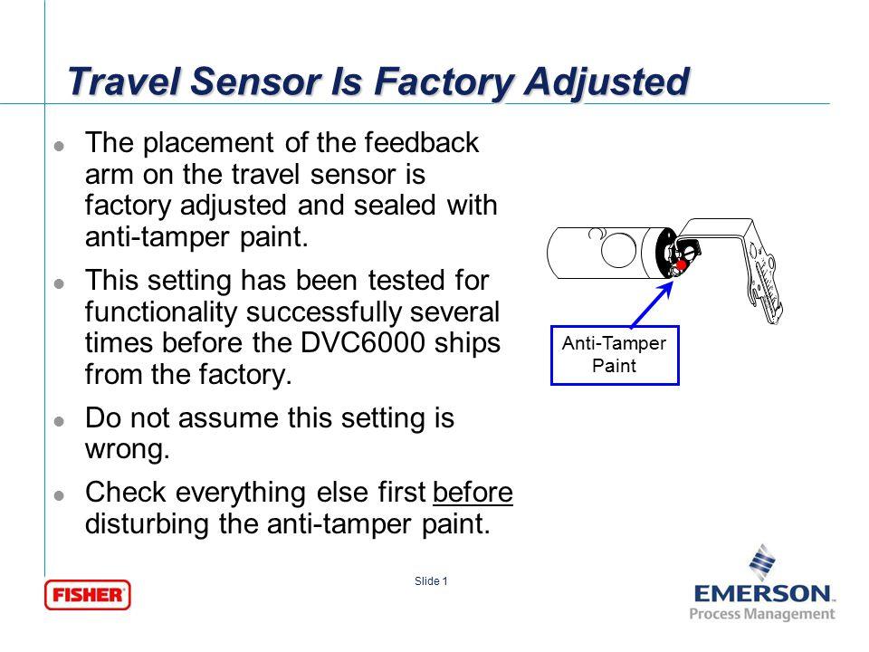 Travel Sensor Is Factory Adjusted