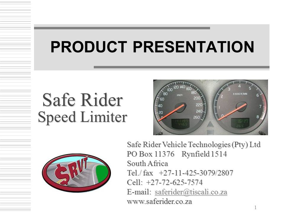 Safe Rider Speed Limiter