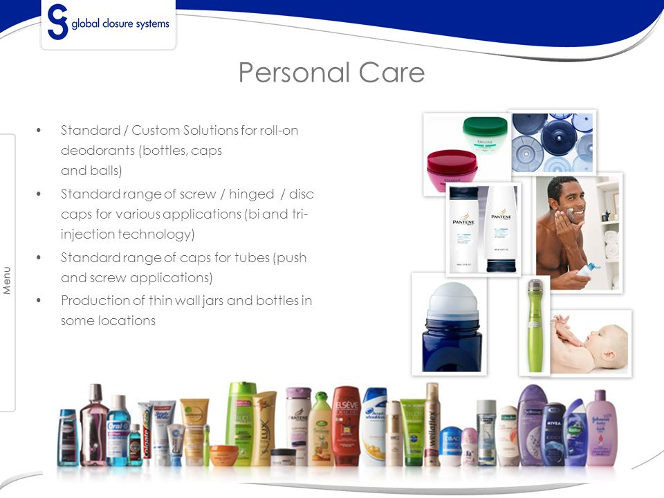 Personal Care Standard / Custom Solutions for roll-on deodorants (bottles, caps and balls)