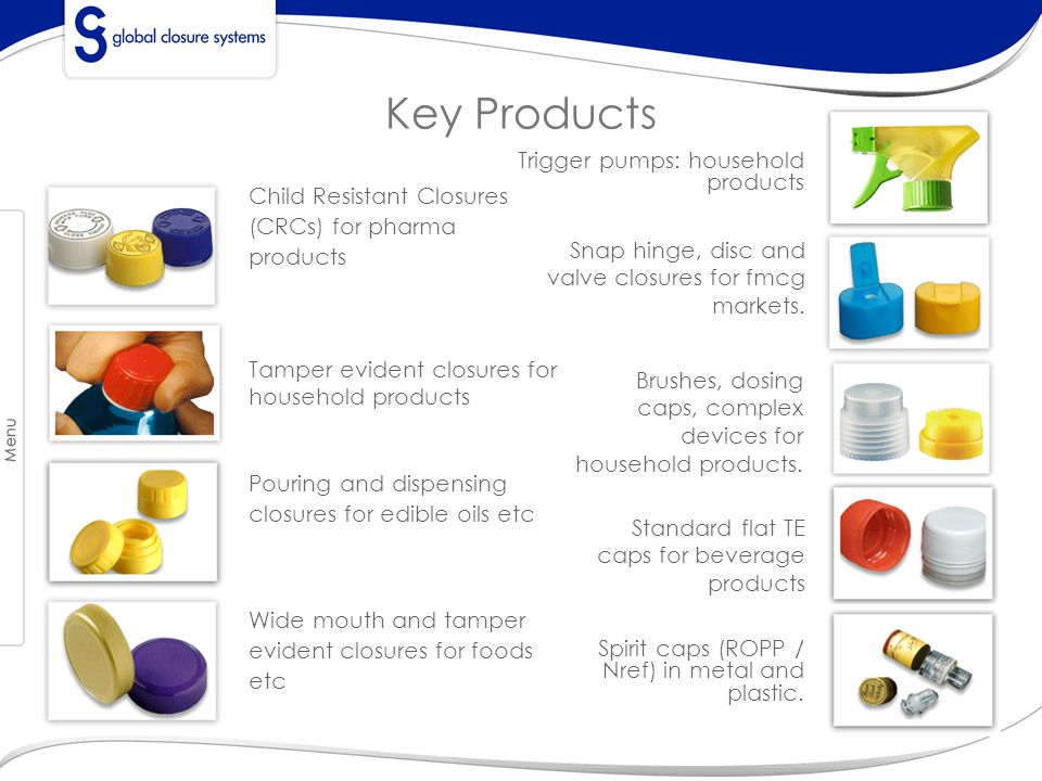 Key Products Trigger pumps: household products