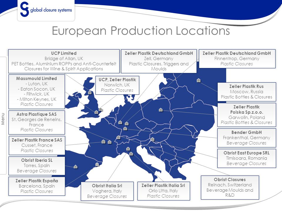 European Production Locations