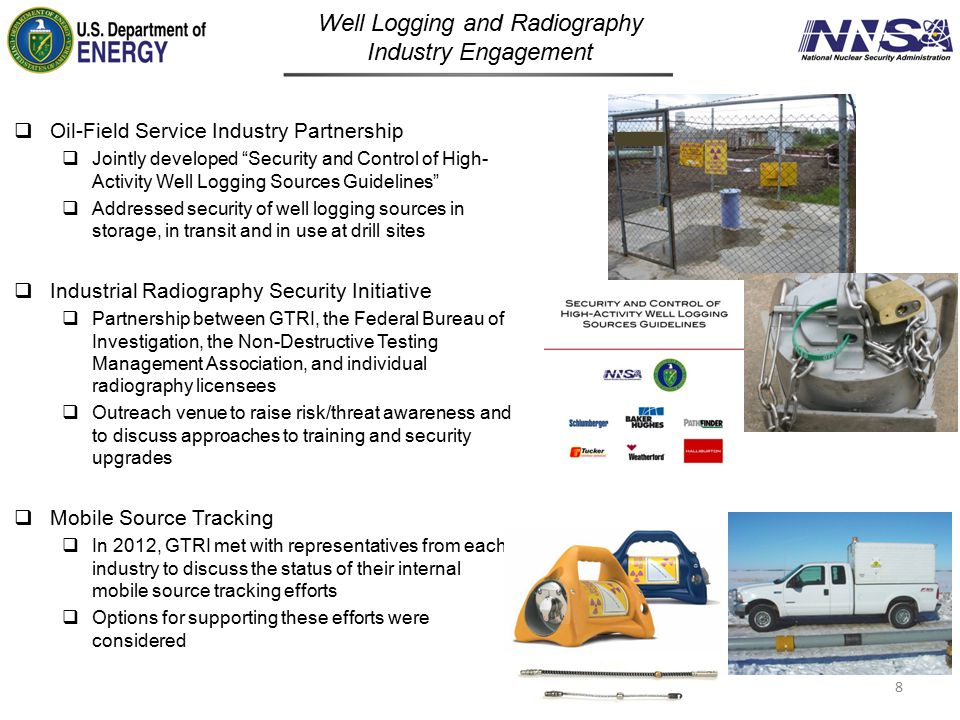 Well Logging and Radiography Industry Engagement