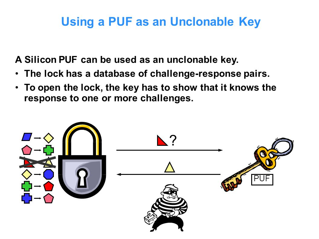 Using a PUF as an Unclonable Key
