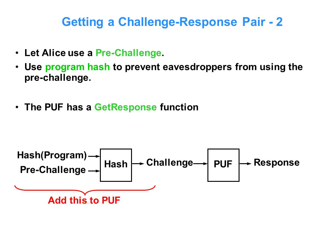 Getting a Challenge-Response Pair - 2