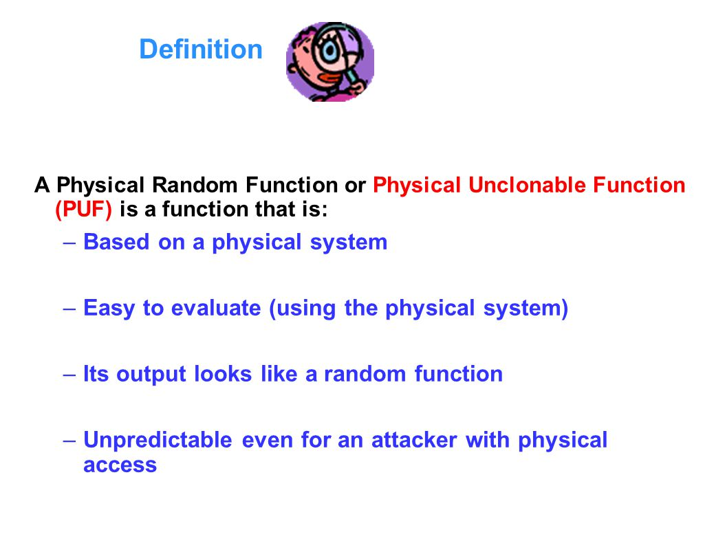 Definition Based on a physical system