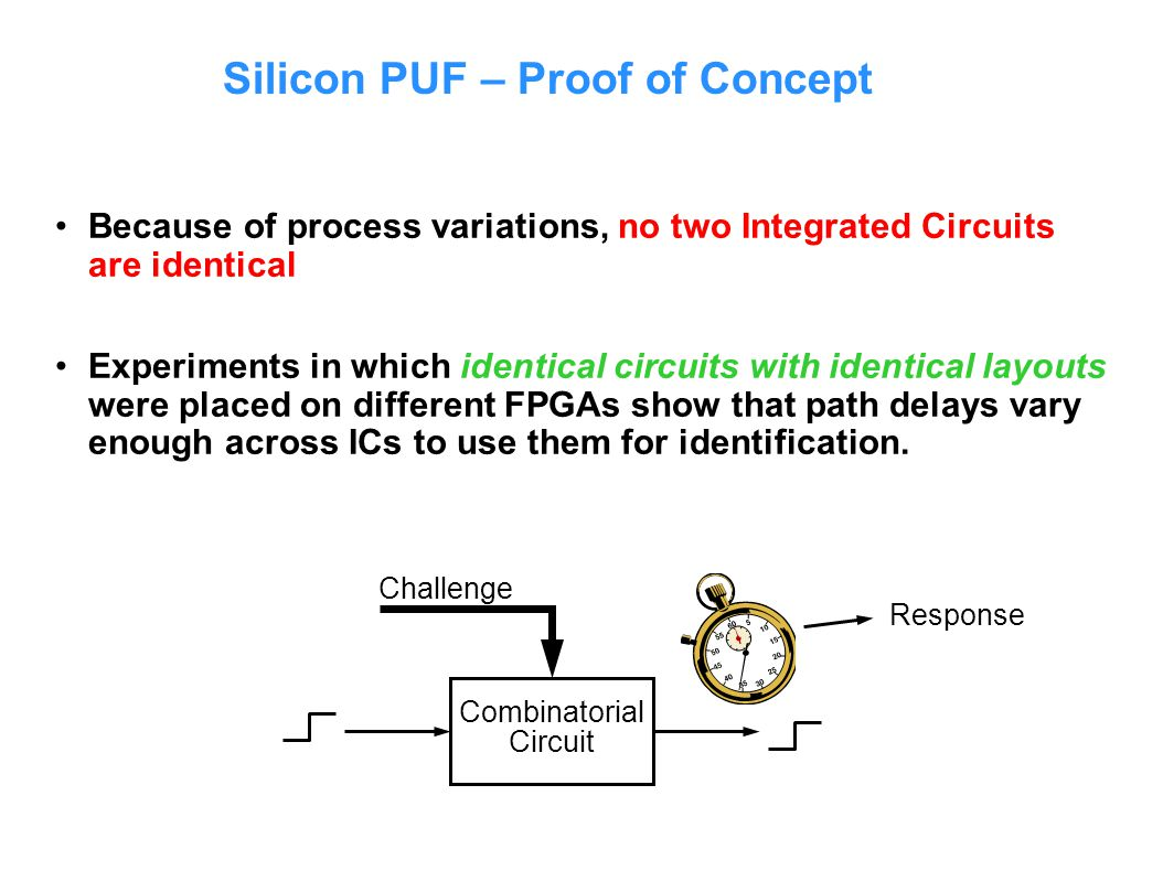 Silicon PUF – Proof of Concept