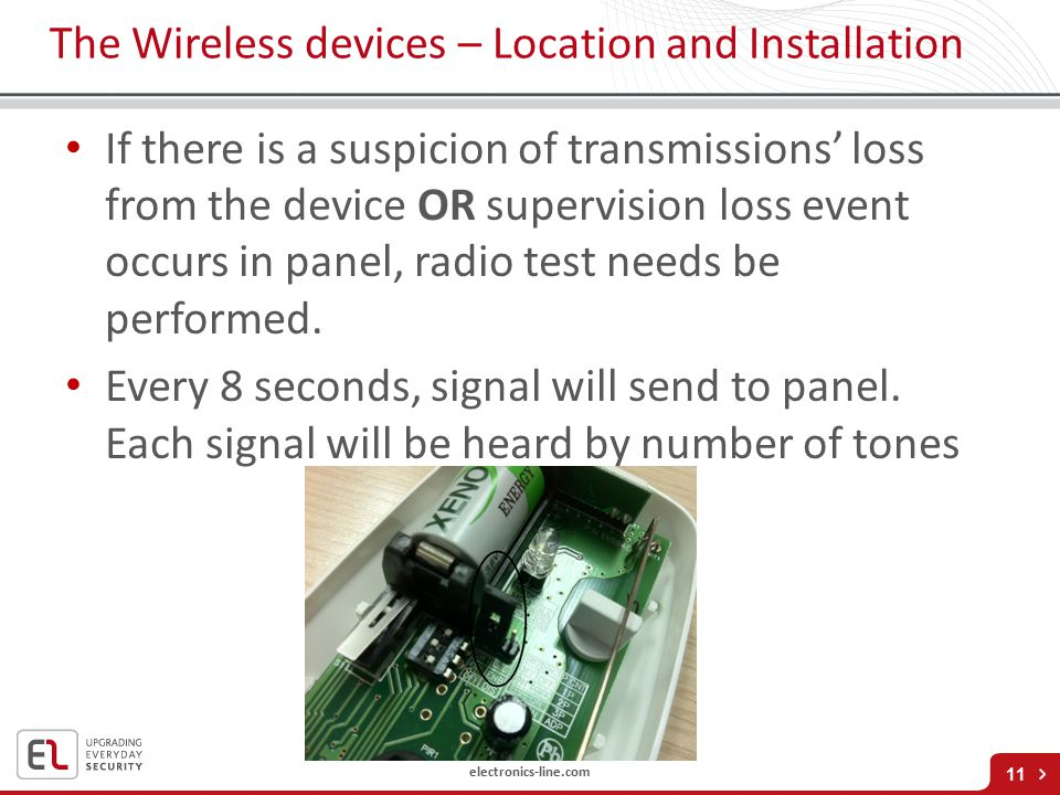 The Wireless devices – Location and Installation