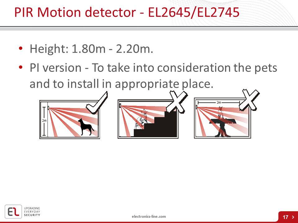 PIR Motion detector - EL2645/EL2745