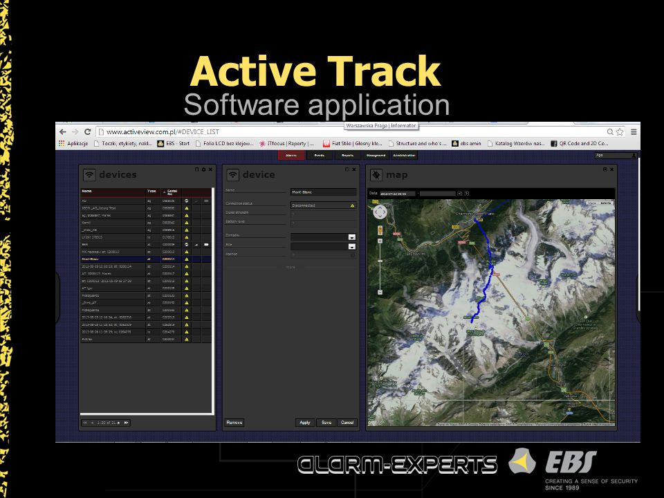 Active Track Software application