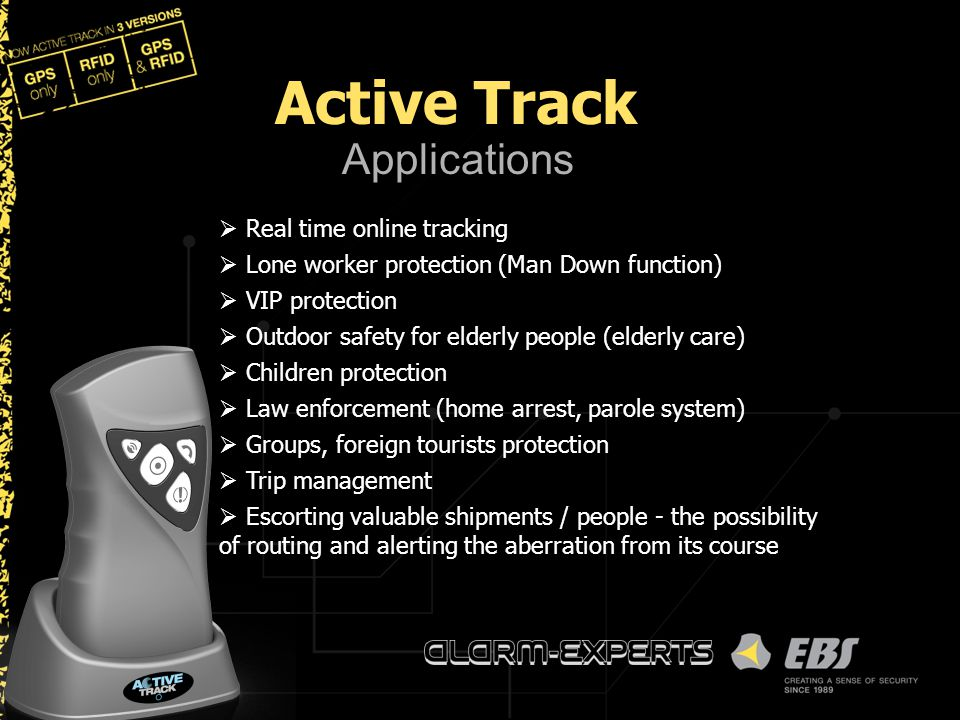 Active Track Applications Real time online tracking