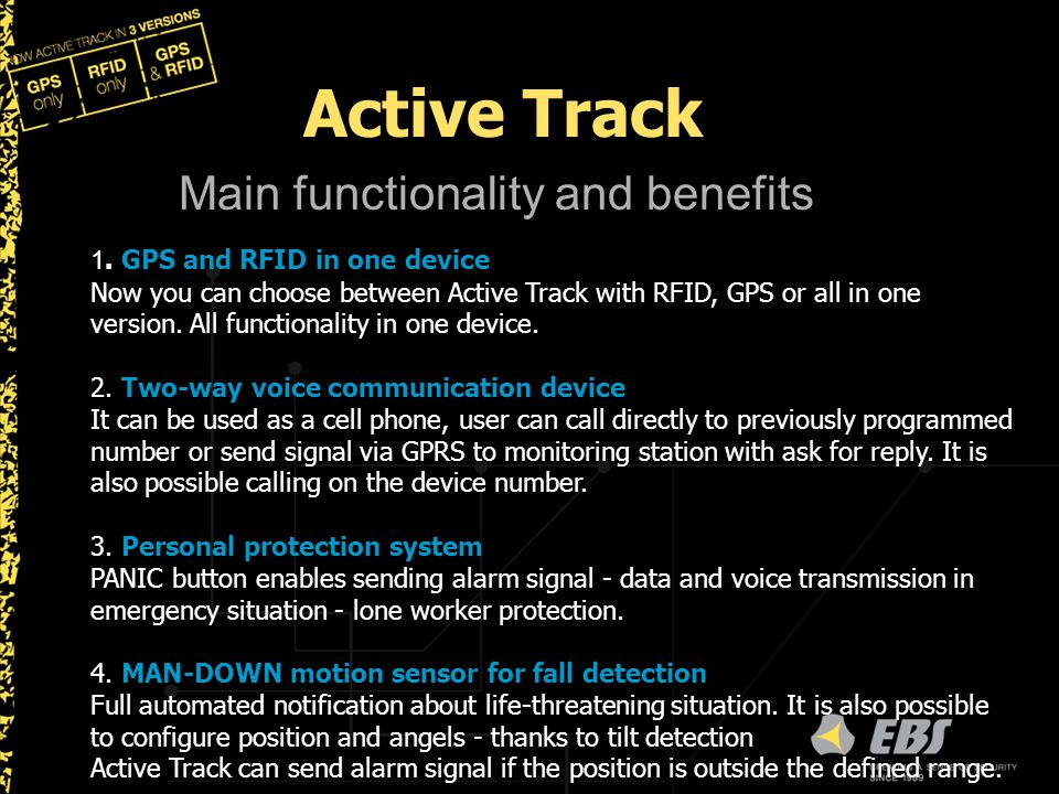 Active Track Main functionality and benefits