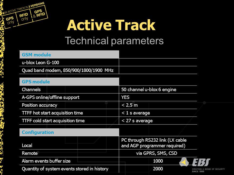 Active Track Technical parameters GSM module u-blox Leon G-100